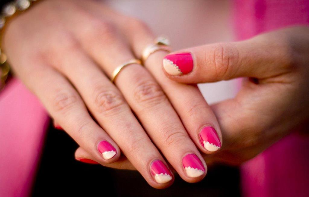 Маникюр для самых коротких ногтей